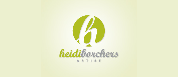letter h logo design heidi borchers