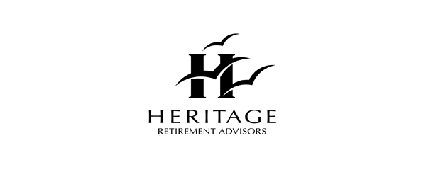 letter h logo design heritage
