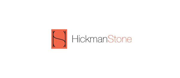letter h logo design hickman stone