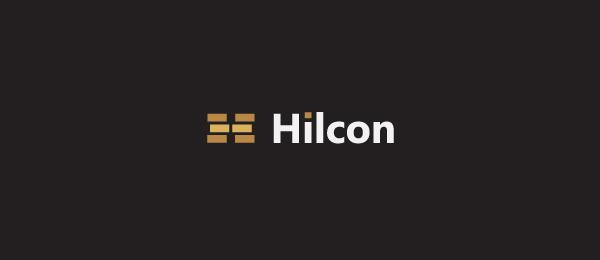 letter h logo design hilcon