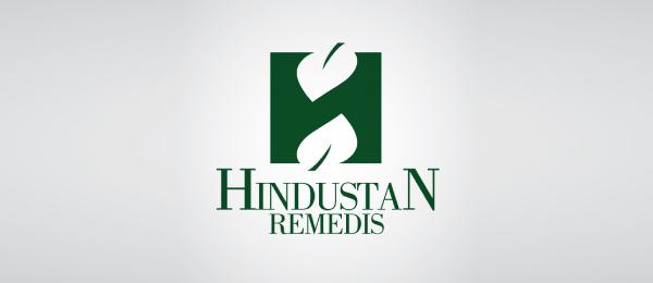 letter h logo design hindustan remedis