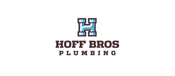 letter h logo design hoff bros