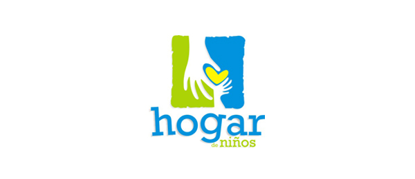letter h logo design hogar