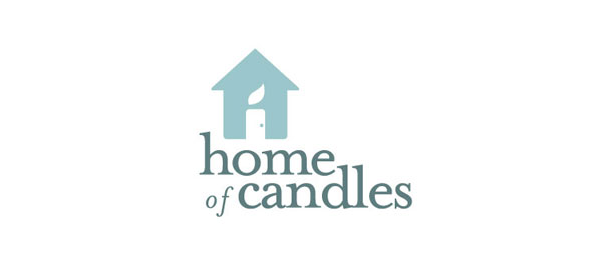 letter h logo design home of candles