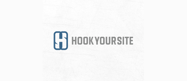 letter h logo design hook your site