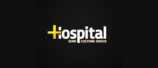 letter h logo design hospital
