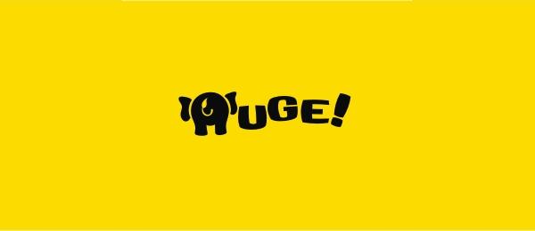 letter h logo design huge identity
