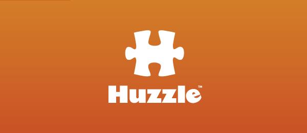 letter h logo design huzzle