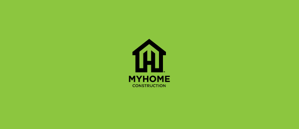 letter h logo design my home