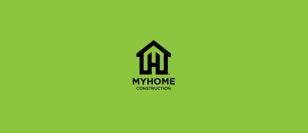 letter h logo design my home