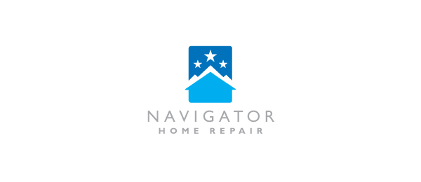 letter h logo design navigator home repair