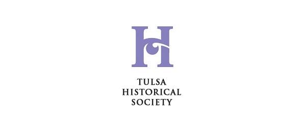letter h logo design tulsa historical society