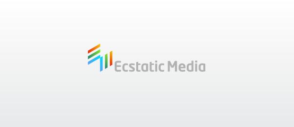 letter m logo design ecstatic media