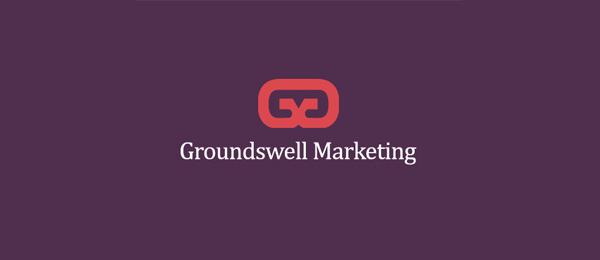 letter m logo design groundswell marketing