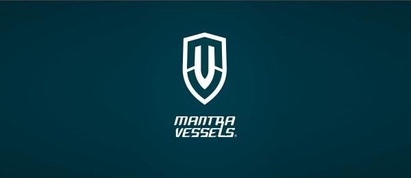 letter m logo design mantra vessels