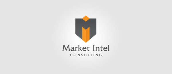 Letter M Logo Design Market Intel Consulting