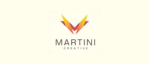 letter m logo design martini creative