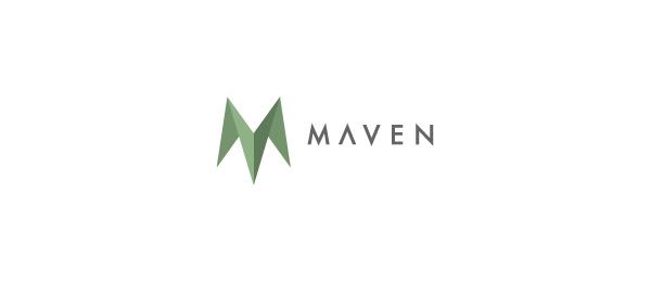 letter m logo design maven