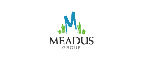 letter m logo design meadus group