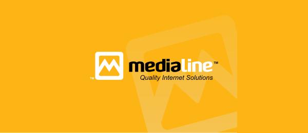 letter m logo design medialine
