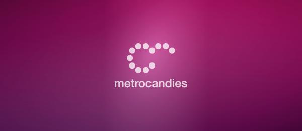 letter m logo design metrocandies