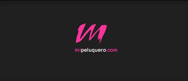 letter m logo design mi peluquero