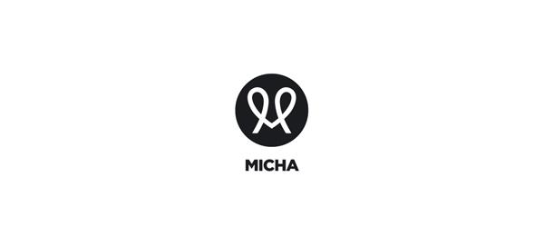 letter m logo design micha