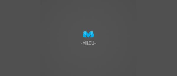 letter m logo design milou