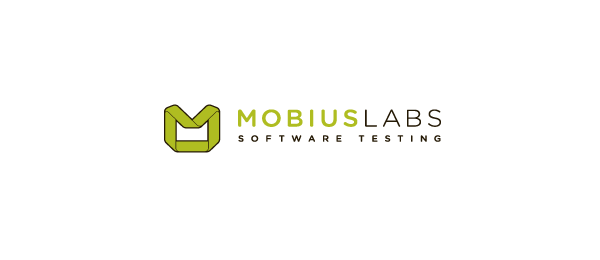 letter m logo design mobius labs
