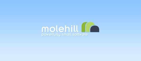 letter m logo design molehill