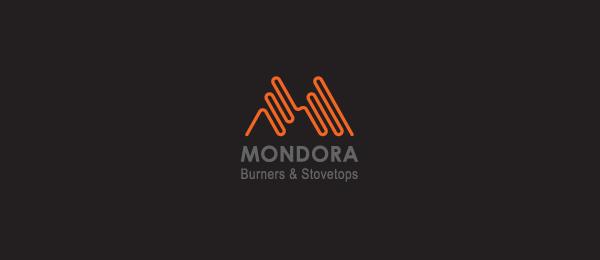 letter m logo design mondora