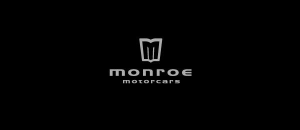 letter m logo design monroe