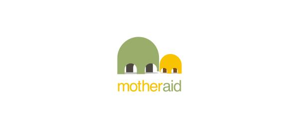 letter m logo design mother aid