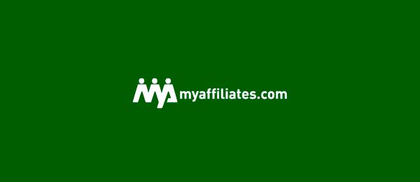 letter m logo design myaffiliates