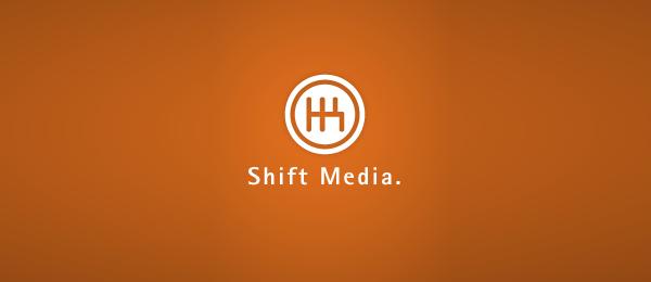 letter m logo design shift media