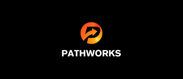 letter p logo design pathworks