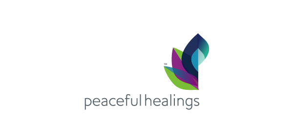 letter p logo design peaceful healings