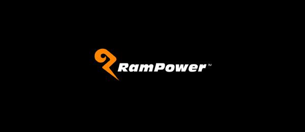 letter p logo design rampower