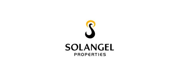 letter p logo design solangel properties