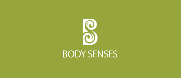 letter s logo design body senses