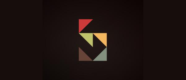 letter s logo design five sharp