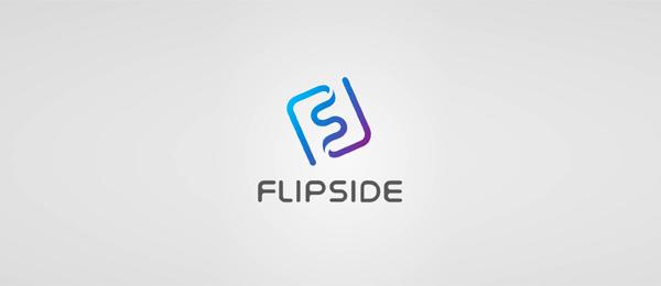 letter s logo design flipside