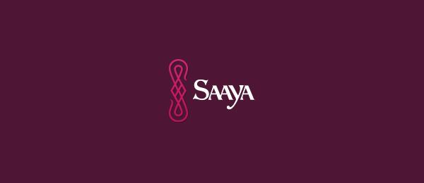 letter s logo design saaya