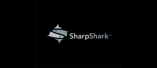 letter s logo design sharpshark
