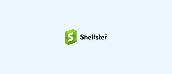 letter s logo design shelfster