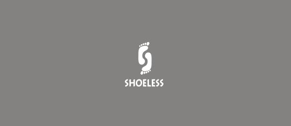 letter s logo design shoeless