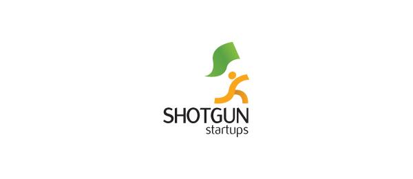 letter s logo design shotgun startups