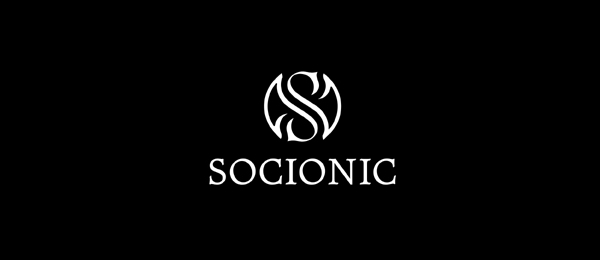letter s logo design socionic