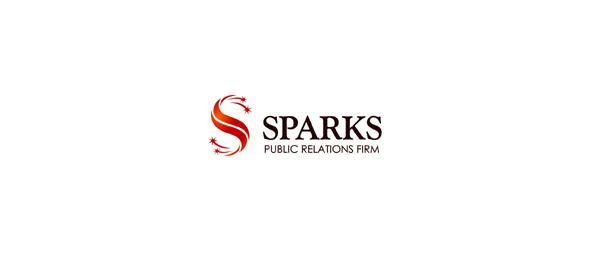 letter s logo design sparks