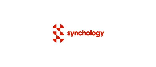 letter s logo design synchology